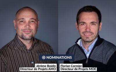 Deux nouveaux Directeurs de projets